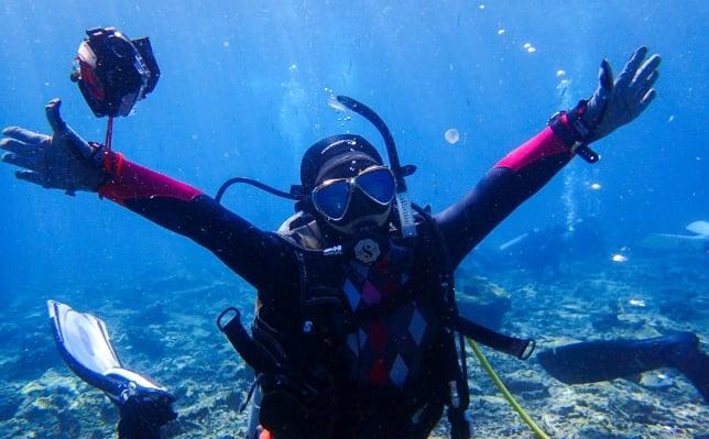 石垣島でダイビングのお仕事
