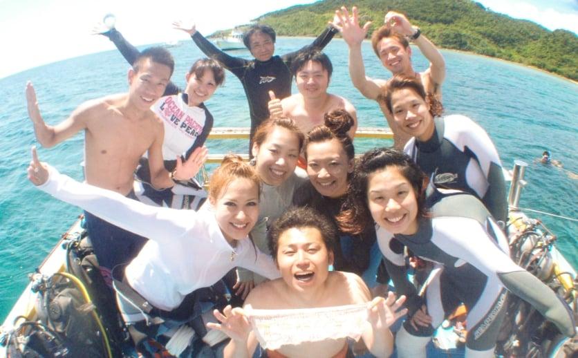 石垣島ダイビング船