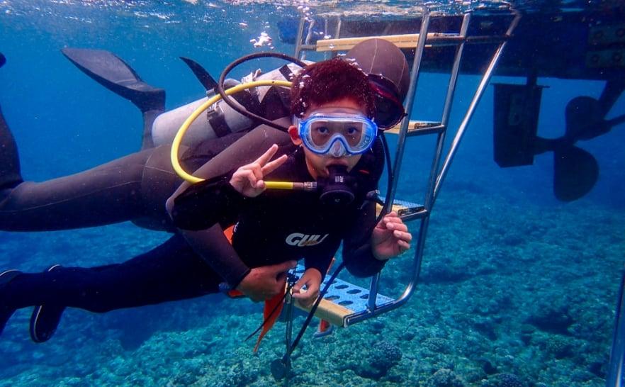 タンクを背負わずに潜るダイビング