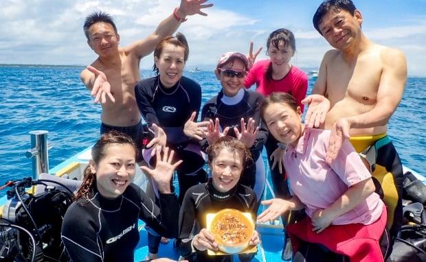 石垣島で記念ダイブ11