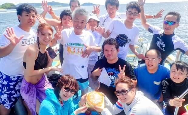 石垣島で記念ダイブ2