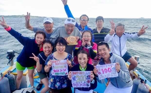 石垣島で記念ダイブ7
