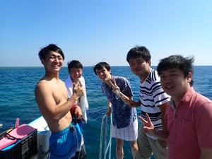 今日の主役は!体験ダイビングチーム!!