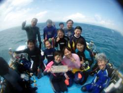 スーパーブルーの海でおめでとうーーーーー!!!!