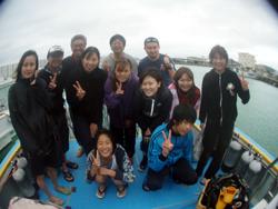 石垣島のダイビングで大人も子供も・・・・・