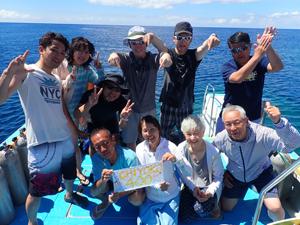 スーパーブルーな海で!